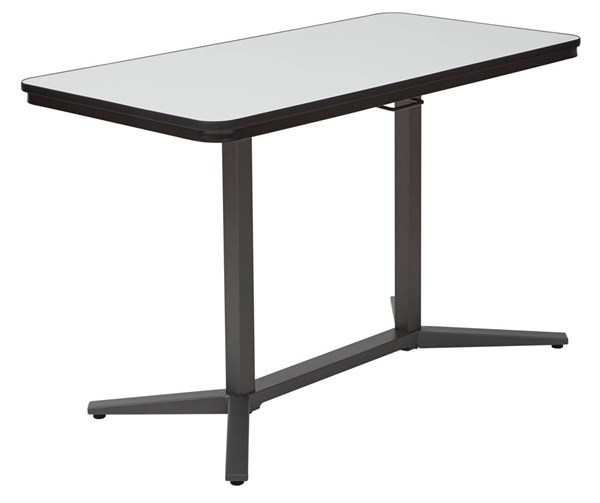 Pneumatic White Dry-Erase Table Top Titanium Base Height Adjust Table OSP-PHT70527