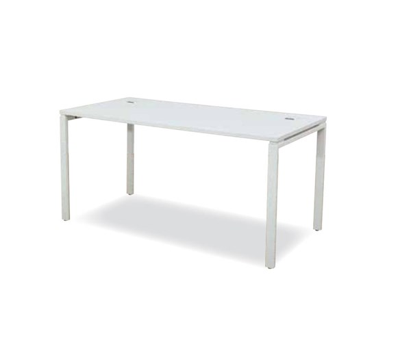 Prado White Laminate Top & Metal Legs 60 Inch Writing Desk OSP-PRD3060D-WH