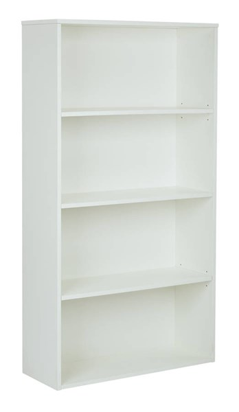 Prado White 2 Adjustable & 2 Fixed Shelves 60 Inch 4-Shelf Bookcase OSP-PRD3260-WH