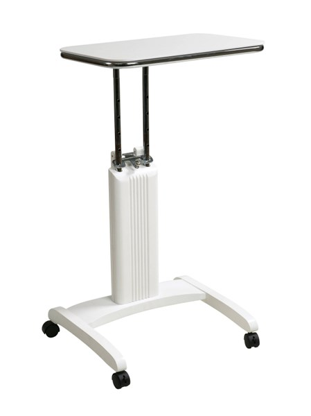 Precision Modern White Solid Wood Chrome Laptop Stand OSP-PSN620