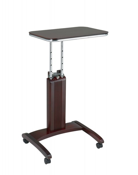 Precision Modern Mahogany Solid Wood Chrome Laptop Stand OSP-PSN623