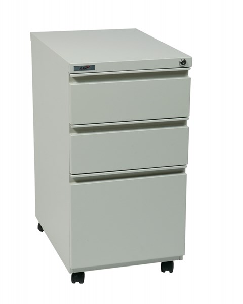 Metal 22 Inch Closed Top Pedestal File Cabinets W/Casters OSP-PTC22BBF-OFF-FC