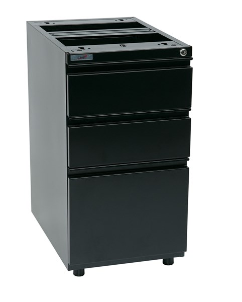 Metal 22 Inch Open Top Pedestal File Cabinets W/Adjustable Glides OSP-PTO22BBF-OFF-FC