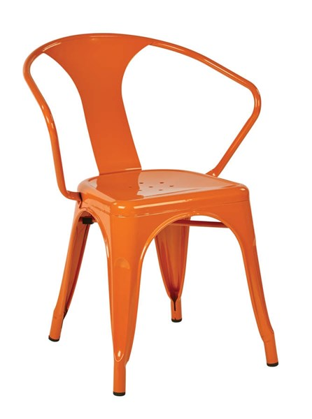 4 Patterson Modern Orange Powder Coated Metal 30 Inch Chairs OSP-PTR2830A4-18