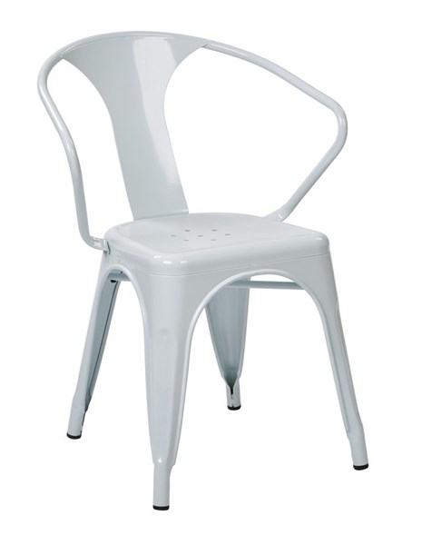2 Patterson Modern White Powder Coated Metal 30 Inch Chairs OSP-PTR2830A2-11