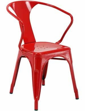 2 Patterson Modern Red Powder Coated Metal 30 Inch Chairs OSP-PTR2830A2-9