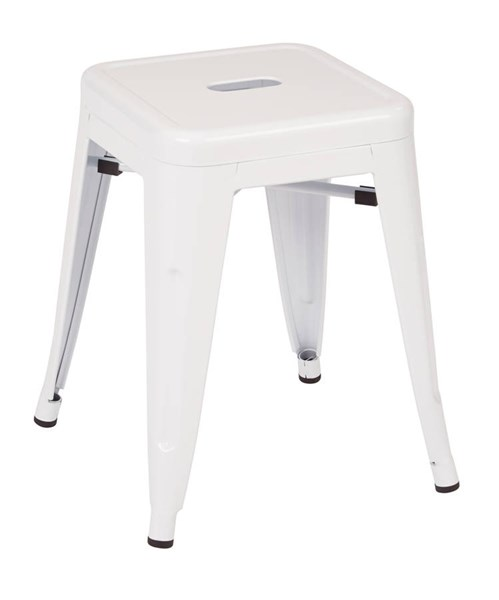 4 Patterson Modern White Steel Backless 18 Inch Barstools OSP-PTR3018A4-11