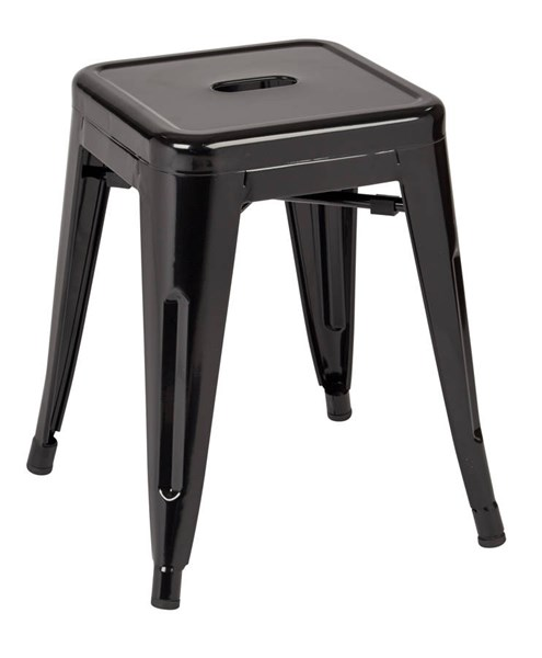 4 Patterson Modern Black Steel Backless 18 Inch Barstools OSP-PTR3018A4-3