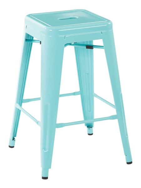 2 Patterson Contemporary Green Steel 24 Inch Backless Barstools OSP-PTR3024A2-16