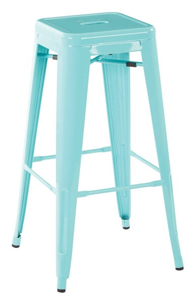 2 Patterson Contemporary Green Steel 30 Inch Backless Barstools OSP-PTR3030A2-16