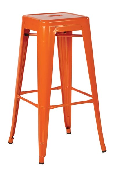 2 Patterson Contemporary Orange Steel 30 Inch Backless Barstools OSP-PTR3030A2-18