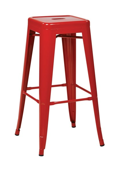 2 Patterson Modern Red Steel Backless 30 Inch Barstools OSP-PTR3030A2-9