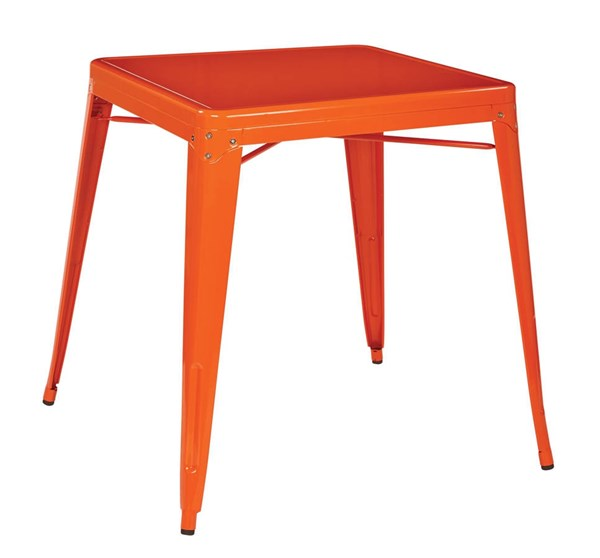 Paterson Modern Orange Metal Top & Frame Table OSP-PTR432-18