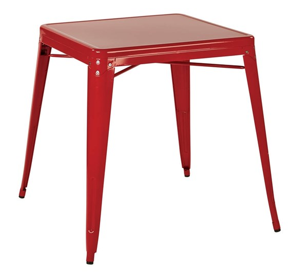 Paterson Modern Red Metal Top & Frame Table OSP-PTR432-9