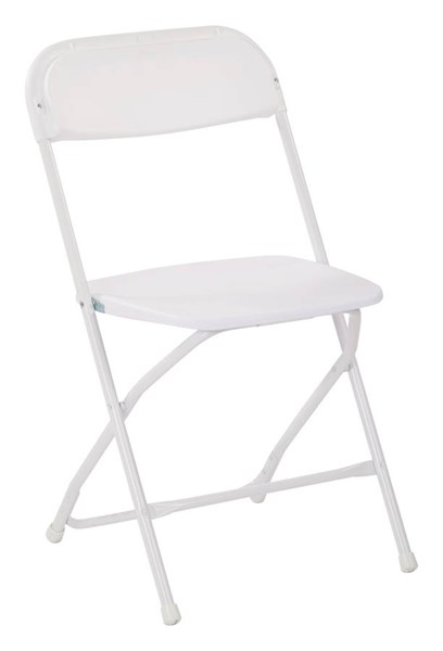 4 RC Series White Metal Plastic Armless And Solid Back Folding Chairs OSP-RC8811A4
