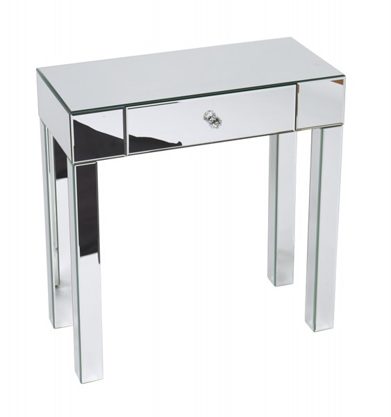 Reflections Contemporary Silver Mirror Glass Foyer Table OSP-REF07-SLV