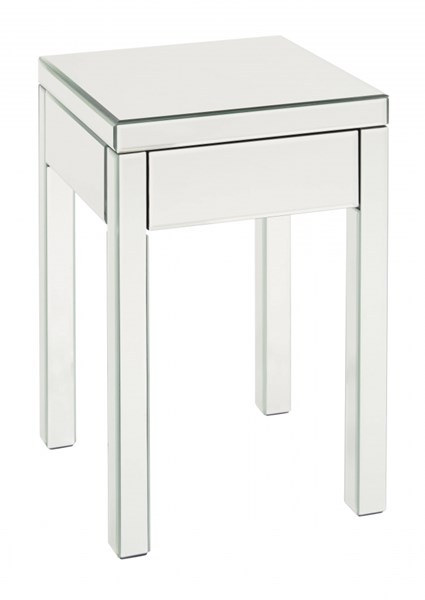 Reflections Modern Silver Mirror Glass End Table OSP-REF09-SLV