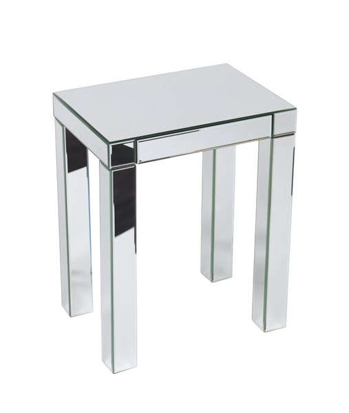 Reflections Contemporary Silver Mirror Glass Accent Table OSP-REF17-SLV