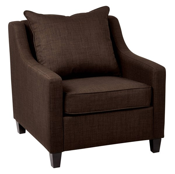 Regent Casual Milford Java Fabric Dark Expresso Wood Legs Chair OSP-RGT51-M44