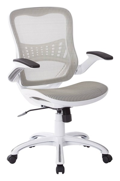 Riley Modern White Wood Fabric Office Chair OSP-RLY26-WH