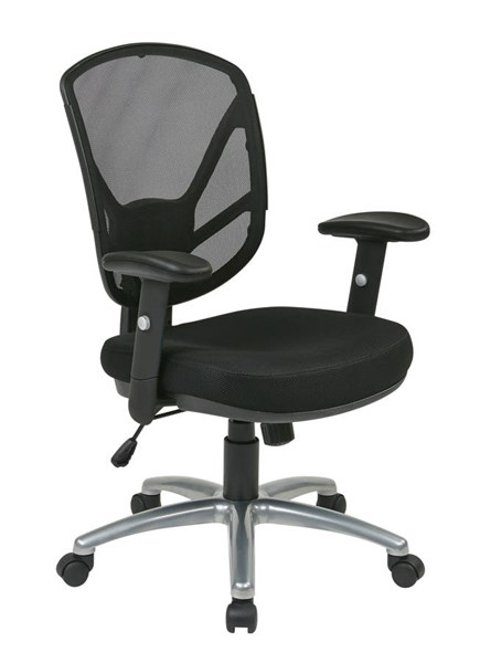 Ventilated Seating Black Mesh Screen Back 2-To-1 Synchro Tilt Chair OSP-S2721-3M