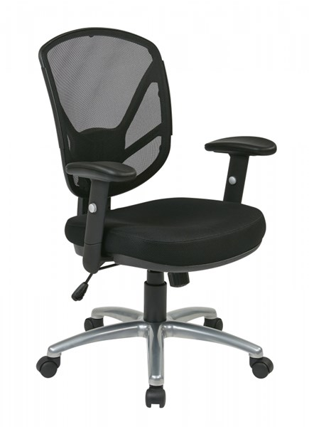 Ventilated Seating Black Screen Back 2-to-1 Synchro Tilt Chair OSP-S2721-3