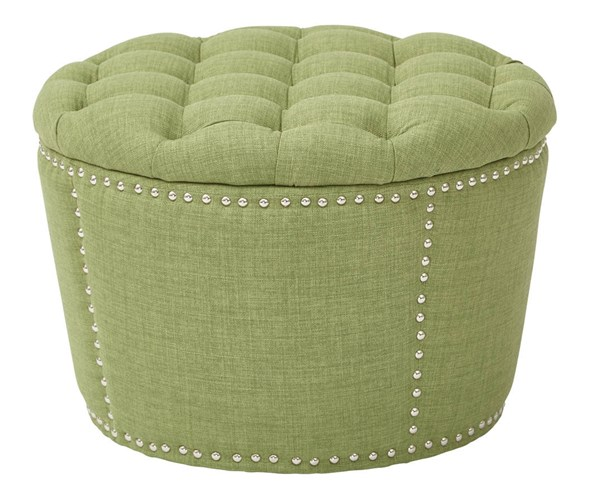 Lacey Traditional Milford Grass Fabric Solid Wood Tufted Storage Set OSP-SB239-M42