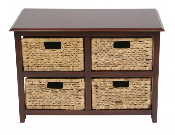 Seabrook Transitional Espresso Wood Four Drawer Storage Unit OSP-SBK4515A-ES