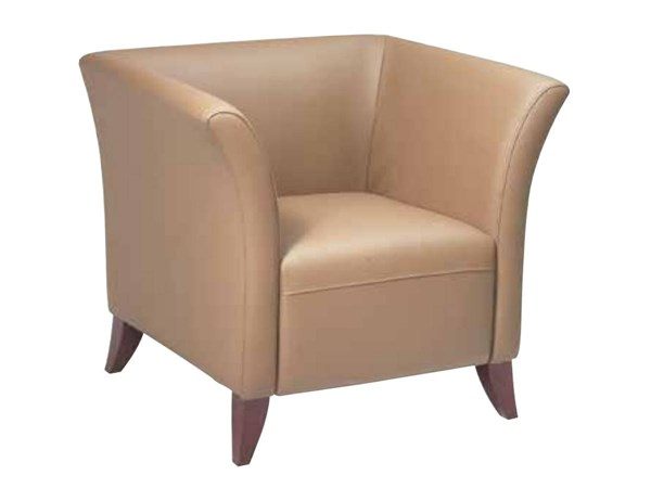 Lounge Seating Contemporary Taupe Faux Leather Cherry Wood Club Chair OSP-SL1571-U21