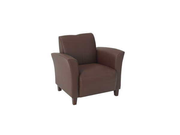 Lounge Seating Wine Wood Bonded Leather Breeze Club Chair OSP-SL2271EC6