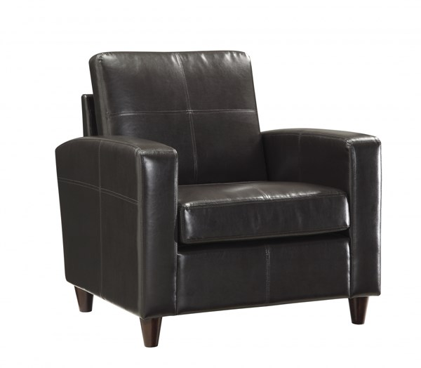 Lounge Seating Espresso Bonded Leather Club Chair OSP-SL2811-EC1