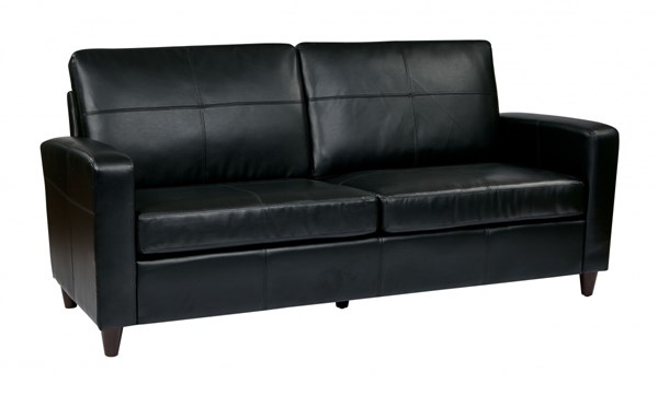 Lounge Seating Black Espresso Bonded Leather Sofa OSP-SL2813-EC3