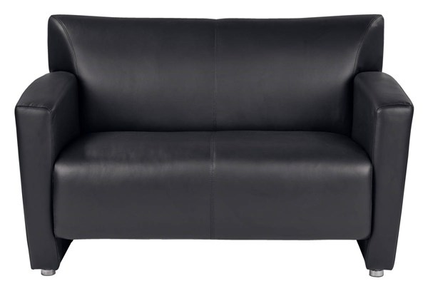 Lounge Seating Contemporary Black Faux Leather Wood Loveseat OSP-SL2912S-U6