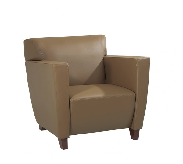 Lounge Seating Black Taupe Bonded Leather Wood Club Chairs OSP-SL847-CH-VAR