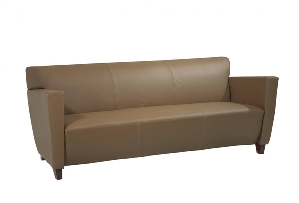 Lounge Seating Black Taupe Bonded Leather Wood Sofas OSP-SL847-SF-VAR