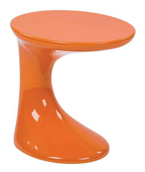Slick Modern High Gloss Orange ABS Plastic Side Table OSP-SLKST-32