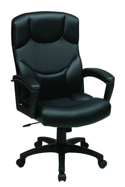 Spx Series Contemporary Black Bonded Leather Metal Office Chair OSP-SPX8992-EC3