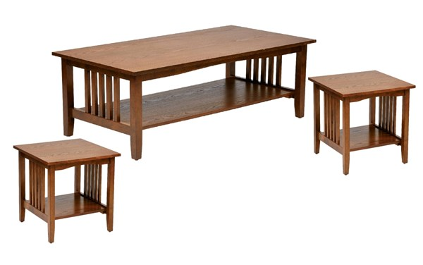 Sierra Transitional Ash Solid Wood 3pc Coffee Table Set OSP-SRA-AH-CT-S