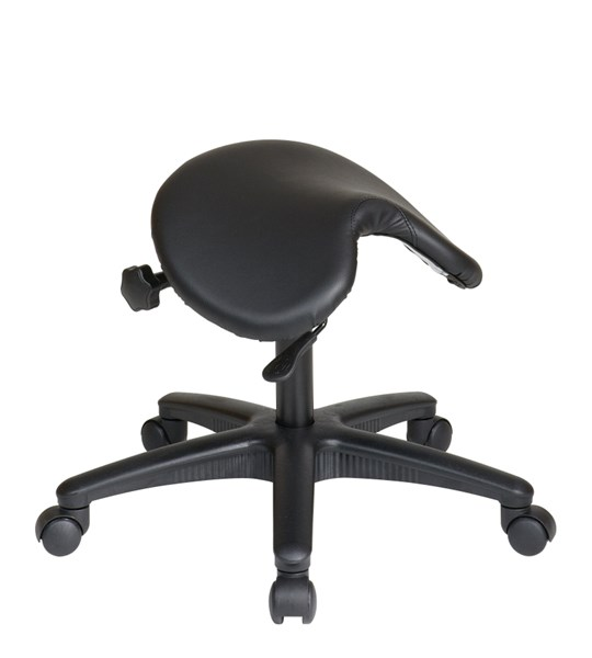 Black Backless stool w/Saddle Seat Pneumatic Drafting Chair OSP-ST203