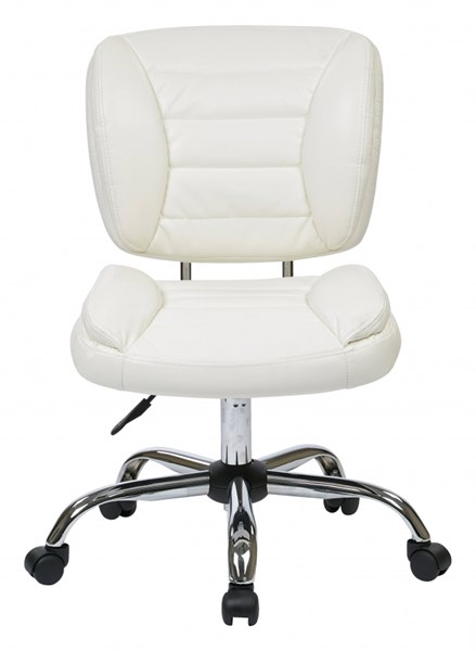 ST Series White Black Red Faux Leather Metal Armless Task Chairs OSP-ST52050C-A-VAR