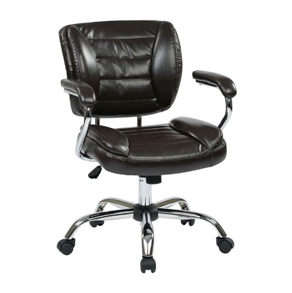 ST Series Faux Leather Adjustable Height Task Chairs OSP-ST52052CA-VAR