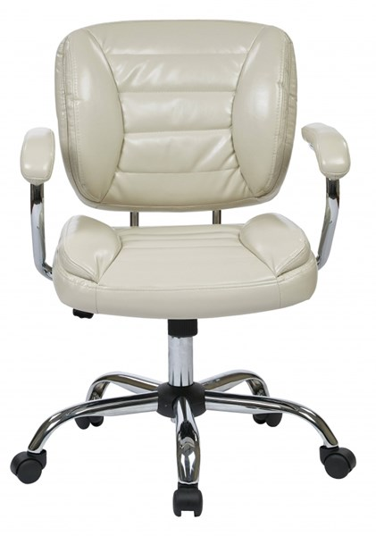 ST Series Cream Faux Leather Adjustable Height Task Chair OSP-ST52052CA-U28