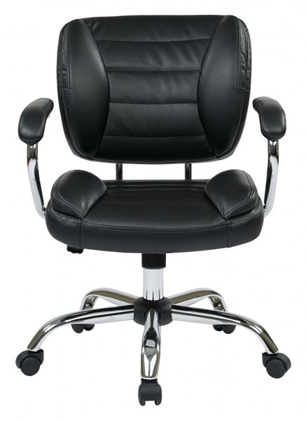 ST Series Black Faux Leather Adjustable Height Task Chair OSP-ST52052CA-U6