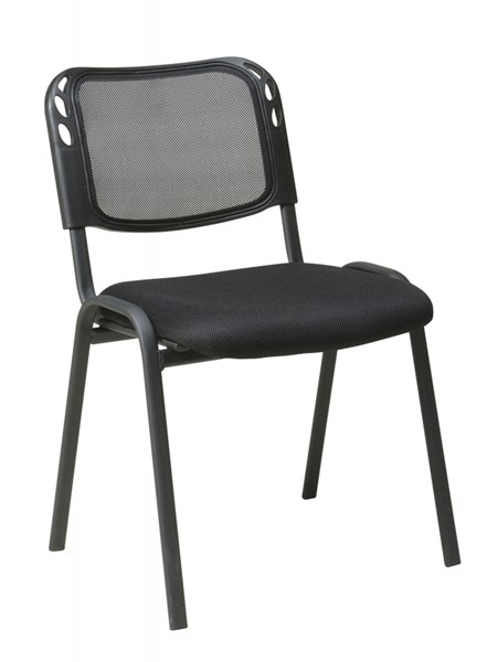 4 STC Series Black Armless Mesh Screen Back Stacking Chair OSP-STC2020A4-3