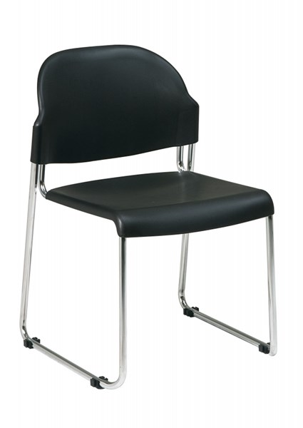 30 STC Series Black Plastic Seat & Back Stack Chairs OSP-STC3030C30-3