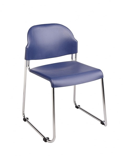 30 STC Series Blue Plastic Seat & Back Stack Chairs OSP-STC3030C30-7