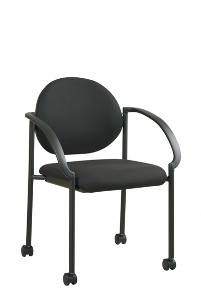 STC Series Black Casters & Arms Stack Chairs OSP-STC3440-231