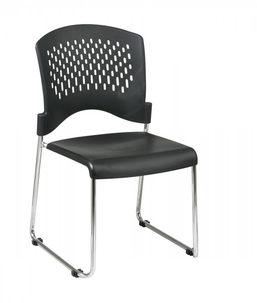 30 STC Series Black Sled Base Stack Chairs OSP-STC865C30-3