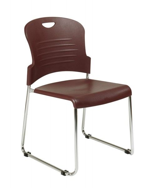 30 STC Series Burgundy Sled Base Stack Chairs OSP-STC866C30-4