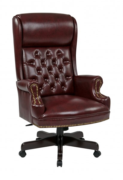 TEX Collection Mahogany Deluxe High Back Traditional Executive Chair OSP-TEX228-JT4